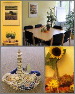 Kontaktstelle Ansbach: Gruppenraum und Dekoration