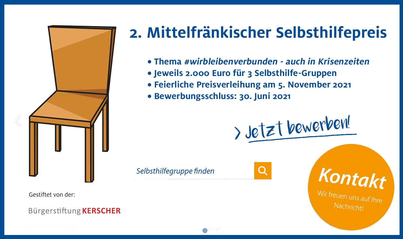 2. Mittelfränkischer Selbsthilfepreis - Jetzt bewerben!