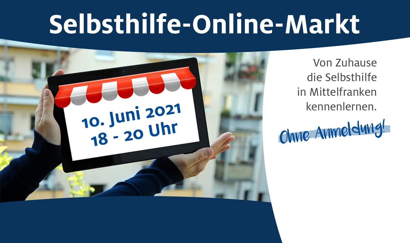 Selbsthilfe-Online-Markt am 10. Juni 2021 von 18 bis 20 Uhr.